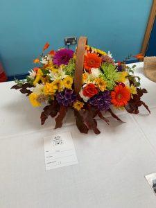 Floral arrangements at autumn show